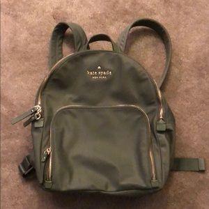 Olive green Kate Spade backpack